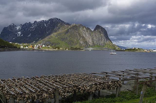 Bacalao pescado en noruega
